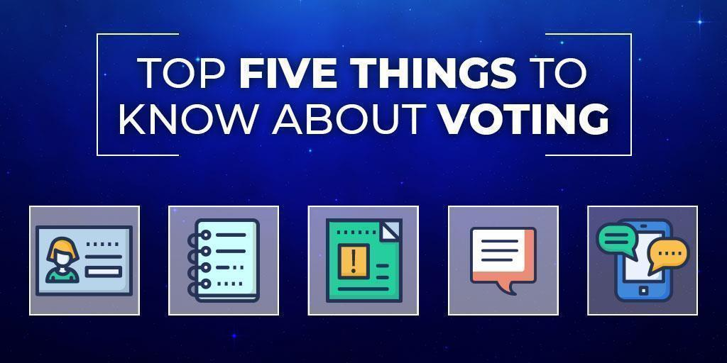 Top Five Things to Know About Voting