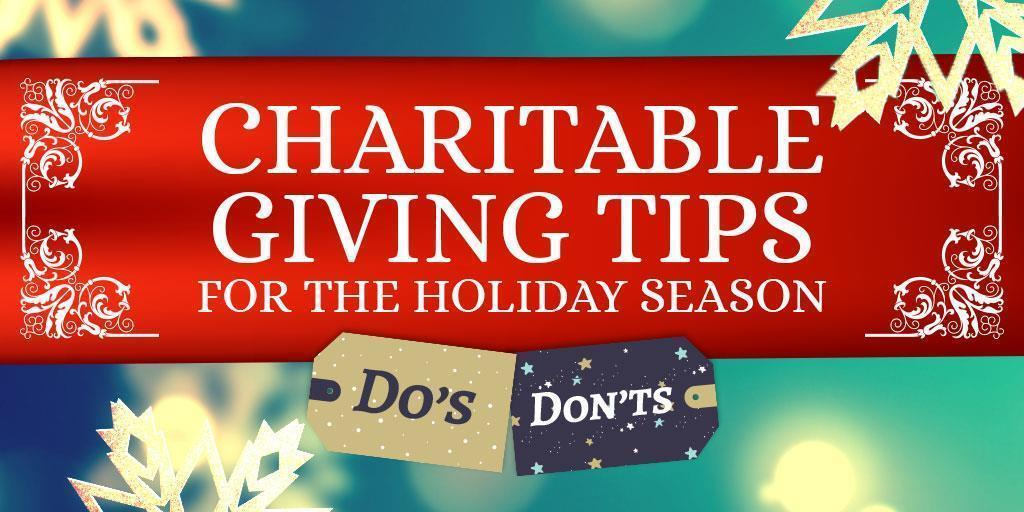 Charitable Giving Tips for the Holiday Season