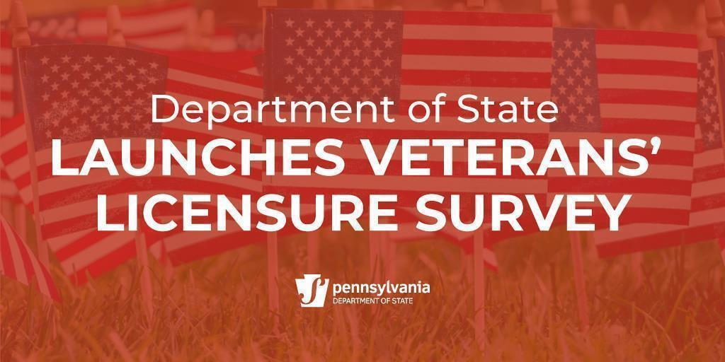 Department of State Launches Veterans' Licensure Survey