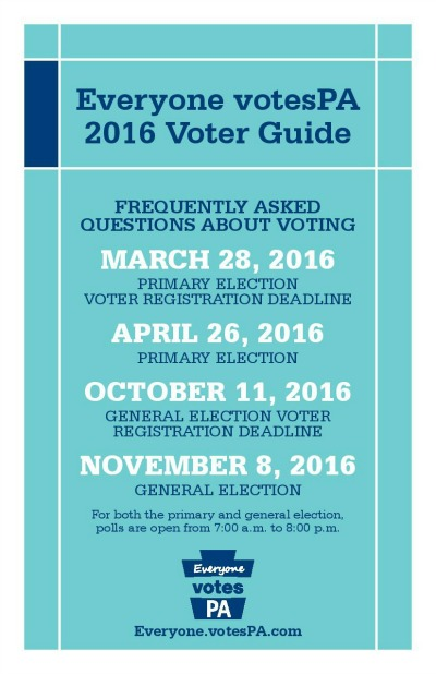 Monday Is The Deadline To Register To Vote In Pa. Primary ...