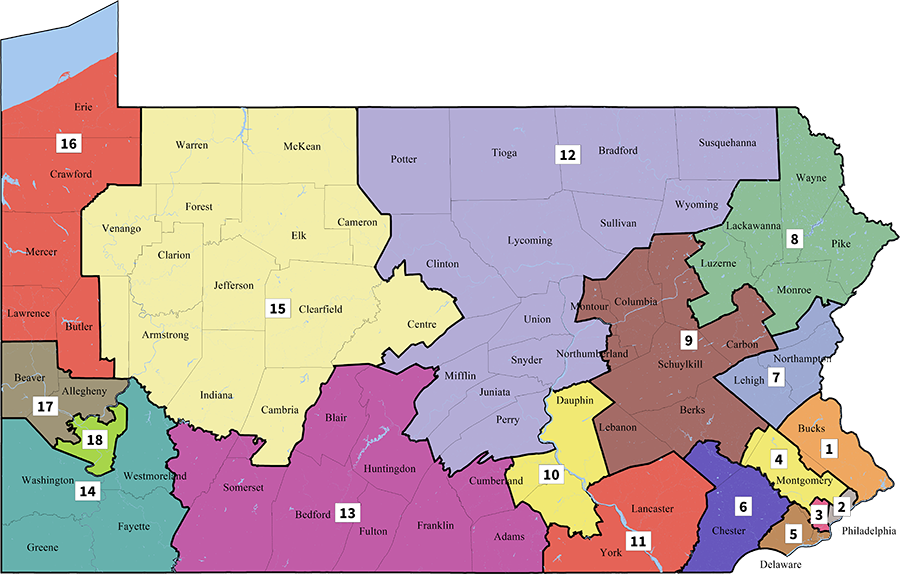2018 Remedial Congressional Districts